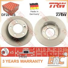 2x REAR BRAKE DISC SET RENAULT VAUXHALL OPEL FOR NISSAN TRW OEM 4421080 DF2816S