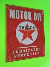 tin metal home garage repair shop man cave decor service station fuel texaco