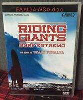 Riding Giants Surf Estremo DVD Stacy Peralta Ex Noleggio Come da Foto N