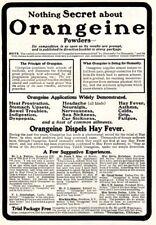 1903 ad Vintage Orangeine Powder Cure Medical Quack Laundry Lady Pearline's Soap