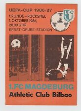 Orig.PRG   UEFA Cup  1986/87   1.FC MAGDEBURG - ATHLETIC BILBAO  !!  SELTEN