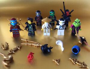 lego ninjago minifigures , lego accessories