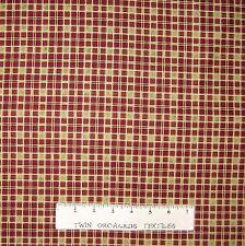 Rustic Country Fabric - Woolies Rust & Tan Plaid - Maywood Studio 1.38 YARD