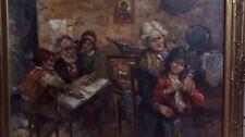 Oil Painting On Canvas Nino Salvadori Esposito, Italian Artist Signed