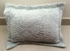 Sdh Fine European Linens Blue White Pillow Made Italy Goose Insert Included