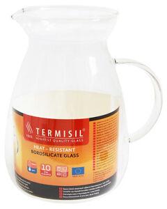 Termisil Glaskrug Saftkrug Wasserkrug Bistro Krug Milchkrug Weinkaraffe 1,3 L