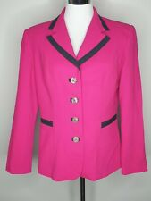 Anthea Crawford Pink Black Wool Office Party Jacket / Size 12