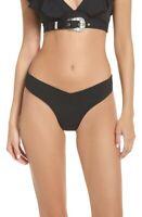 Onia Women's 243624 X We Wore What Delila Bikini Bottom Black Swimwear Size M