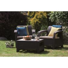 Brown Resin Wicker 3 Piece Patio Bistro Dining Set Home Outdoors Furniture