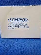 NIHON KOHDEN EKG PAPER FQW-110-2-140, ECG 9020, 1250 CASE OF 10 PACKS