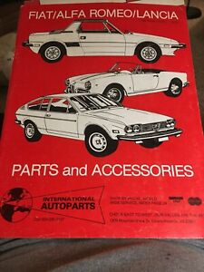 FIAT/ALFA ROMEO/LANCIA Parts Catalogues 1978-79, 1980 International Autoparts
