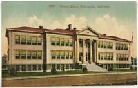 Primary School Watsonville California CA Street View Vintage 1900's Postcard