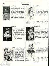 1956 ADVERT Horsman Dolls 2 Sided Bright Star Bride Ballerina Precious Baby