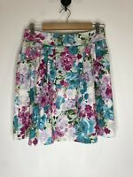 Review Floral Prom Pleat Skirt Size 10 EUC Retro