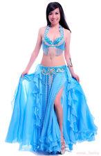 Profession Belly Dance Costume Outfit Set Bra Belt skirt Bollywood Carnival 3PCS