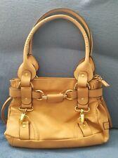 NWT Hilary Radley Soft Leather Beige Hand Bag Gold Furniture