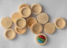 50pcs 12mm Bezel Antique White Wooden Cameo Cabochon Base Setting / Tray - ushes