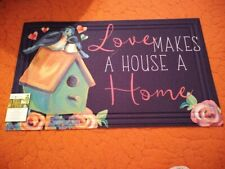 Love Makes a House a Home Door Mat 18 X 30