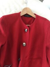 Bavarian Boiled Wool By Frankonia Womens Red Jacket Size M