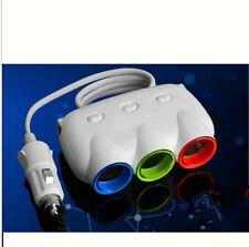 USB 3 plug DC LED light 12V/24V Car Cigarette Lighter Socket Splitter White
