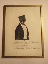 Hannover - 1853 - A. Werner als Student / Schüler - Schattenriss Silhouette