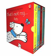 Pets Collection Usborne Touchy-Feely 4 Books Boxed Set Thats not my Puppy,Kitten