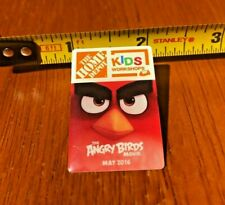 Home Depot Angry Birds Movie Pin 2016 Kids Workshops