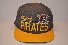 New Era MLB Pittsburgh Pirates Ball Cap Hat Snap Back Snapback Gray Wool Yellow