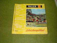 Faller ams   - Faller Katalog 840 D  - Gleisbaupläne