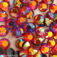 288pcs Red Siam AB 5mm ss20 Flat Back Premium A+ Glass Hotfix Rhinestones