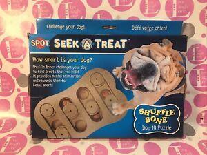 """Spot Seek-a-Treat """" Shuffle Bone """"  Dog IQ Treat Puzzle new in box"""