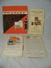 ANTIQUE KITCHEN STOVE SALES FLYERS EVERHOT ACORN UNITED OIL BURNER BROCHURE
