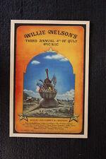 Willie Nelson 1975 tour poster Liberty Hill Texas Krist