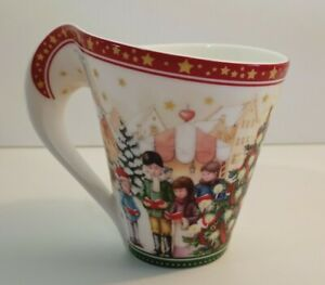 Mug Villeroy & Boch Christmas Scenes Coffee Wave Cup Made in Germany Rare New