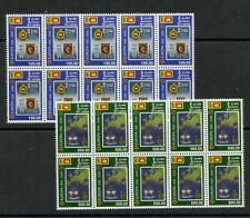 10X Europa 50 years mnh set 2 stamps 2006 Sri Lanka #1539-40 Ship Stamp-on-Stamp