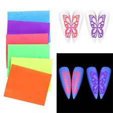 6/8X Butterfly Wings Holographic 3D Nail Art Stickers Decal Self-Adhesive DIY US