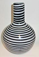 "Kosta Boda Gunnel Sahlin, Art Collection 49506, Art Glass Spiral Swirl Vase, 13"""