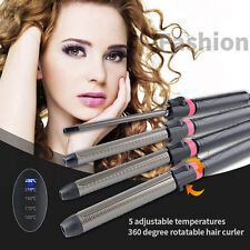 9mm Hair Curler Hair Styling Tool Curling Iron Wand 360 Degree Rotating Clip