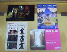 LORD OF THE RINGS ADVERTISING POSTCARDS (4) GAMES WORKSHOP BBC ODEON SOUNDTRACK