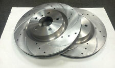 JAGUAR XF 2.2 DIESEL FRONT DISCS DRILLED AND GROOVED