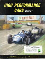 High Performance Cars 1960-61 Road Tests XK150 SP250 Elite Elva Bentley Morgan