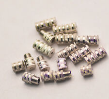30pc 3.5*8mm Rotate Beads Cap Clasps Connector Links Beads Jewelry DIY