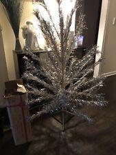 Vtg  Complete ALUMINUM EVERGLEAM 6FT CHRISTMAS Tree USA 46 Branch