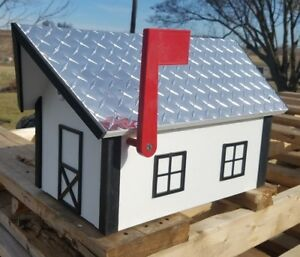 """Amish Crafted Deluxe """"Aluminum Diamond Plate Roof"""" Mailbox - Lancaster, PA"""
