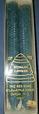 "100 Percent  Pure Beeswax 10"" Colonial Taper Candle blue. New in box."