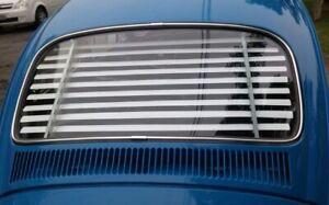 Volkswagen Beetle Bug Rear Window Venetian Blinds White Fixed Slats VW 1965-77