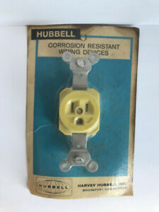 HUBBELL HBL52CM61 WEATHER & CORROSION RESISTANT 15A 125V SINGLE RECEPT
