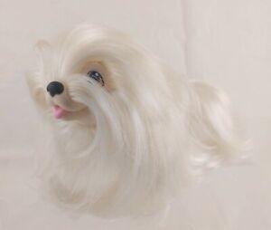 """Hasbro Sweetie Pups White Maltese Dog 5"""" Tall VTG 1989"""