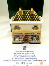 Royal Crown Derby GOVIER'S CHINA SHOP - GOLD BACKSTAMP Ltd Edition Paperweight