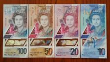 EAST CARIBBEAN STATES $100 $50 $20 & $10 2019 P New x 4 UNC Polymer Banknote Set